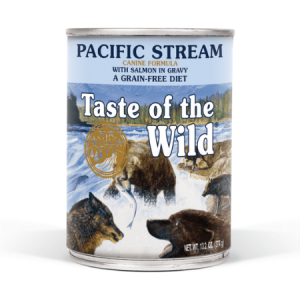 Taste of the Wild Pacific Stream Canine Formula with Salmon in Gravy, 13.2-oz, case of 12