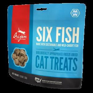 ORIJEN Grain Free Six Fish Freeze Dried Cat Treats