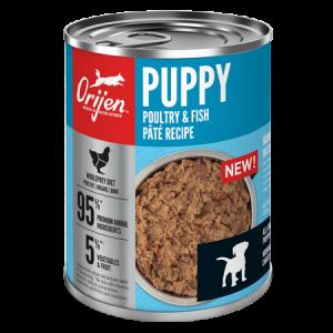ORIJEN Premium Puppy Poultry & Fish Pâté Recipe, 12.8-oz