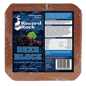 Record Rack Deer Block with Wild Berry Flavor