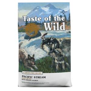 Taste of the Wild Pacific Stream Puppy Recipe with Smoked Salmon